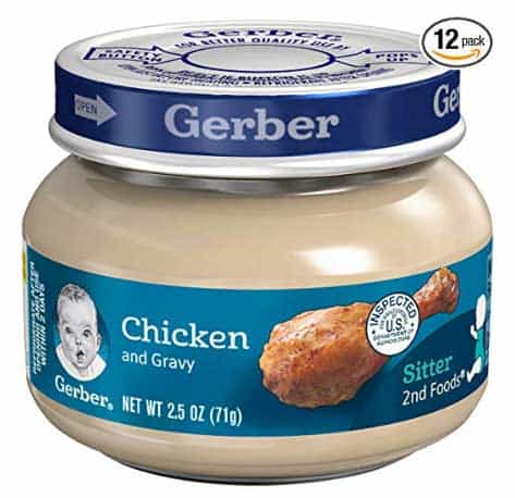 Gerber Baby Food Stage 2 for cats