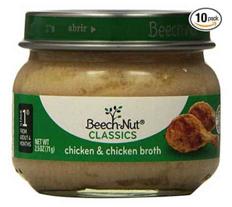 beech Nut 1st stage baby food for cats