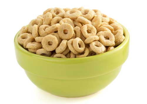 cereal in green bowl